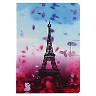 Kompatibilitás tokok Kártyatartó Állvánnyal Flip Minta Smart Touch Teljes védelem Case Virág Eiffel torony Kemény Műbőr Bőr mert Apple