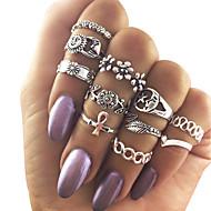 Damen Ringformen Mittelfingerring Türkis Einzigartiges Design Modisch Vintage Aleación Schmuck Für Party Alltag Normal