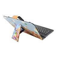 Til Etuier Med stativ Med keyboard Flip Mønster Heldækkende Etui Tegneserie Hårdt Kunstlæder for Apple Samsung HuaweiiPad Mini 4 iPad