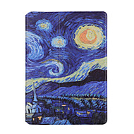 For ipad 2017 9.7 inch Case Cover Shockproof with Stand Auto Sleep / Wake  Flip Pattern Full Body Case Scenery Hard PU Leather Case