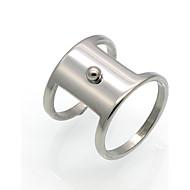 バンドリング ステートメントリング 指輪 サークル ユニーク 幾何学形 ダブルレイヤー ファッション ビンテージ あり Rock 欧米の チタン鋼 18K 金 円形 幾何学形 ジュエリー のために 結婚式 パーティー Halloween 誕生日 日常 カジュアル 1個