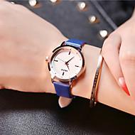 KEZZI 女性用 ファッションウォッチ リストウォッチ ユニークなクリエイティブウォッチ カジュアルウォッチ クォーツ レザー バンド チャーム クール カジュアルスーツ 創造的 ラグジュアリー エレガント腕時計 ブラック 白 ブルー