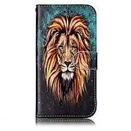 Samsung Galaxy a3 a5 (2017) suojus lion kuvio hohde helpotus pu materiaali kortti stentin lompakko puhelimen tapauksessa
