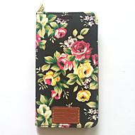 Za samsung galaksiju bilješku 3 držač kartica za poklopac kućišta sa stalakom flip uzorak punog kućišta cvijet tvrdog pu kože