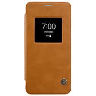 For lg g6 nillkin med windows auto sleep / wake flip veske full body case solid farge hard pu lær for lg