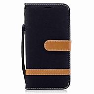 Voor samsung galaxy a3 (2017) a5 (2017) behuizing kaarthouder portemonnee flip magnetisch geval kleurblokken hard textiel voor Samsung