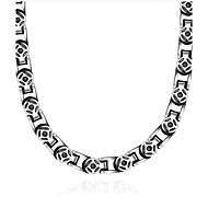 남성용 초커 목걸이 보석류 보석류 티타늄 스틸 빈티지 의상 보석 보석류 제품 일상 캐쥬얼