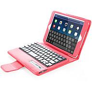 Pour apple ipad mini1 2 3/4 housse avec support avec clavier flip boîtier plein corps couleur solide pu pu cuir clavier bluetooth