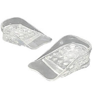 1pair transparant 5 capas ajustable de plantilla más alta gel de silicona inserta elevación zapatos almohadillas aumento de la altura
