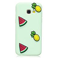 esetében Samsung Galaxy a3 (2017) a5 (2017) burkolata görögdinnye ananász minta gyümölcs színe TPU anyag diy telefon esetében