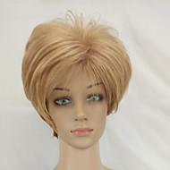 Naisten Synteettiset peruukit Suojuksettomat Lyhyt Suora Vaaleahiuksisuus Tummat juuret Luonnollinen hiusviiva Kerroksittainen leikkaus
