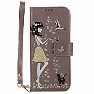 Taske til samsung galaxy s8 plus s8 kuffert kortholder lommebok med stativ glød i det mørke flip mønster etui sexet dame hårdt pu læder s7