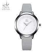 SK Damen Sportuhr Armbanduhr Chinesisch Quartz Schockresistent Großes Ziffernblatt PU Band Cool Bequem Luxuriös Grau