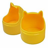 Cat Dog Bowls & Water Bottles Pet Bowls & Feeding Wateproof Adjustable/Retractable Portable Double-Sided Foldable Random Color