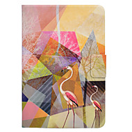 Taske til Samsung Galaxy Tab t580 t560 Flamingo mønster pu læder materiale flad beskyttelses cover case T550 T530 T350 T330 T280