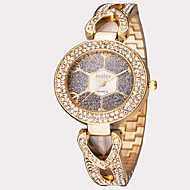 ASJ Damen Modeuhr Armbanduhr Japanisch Quartz Wasserdicht Edelstahl Band Vintage Blätter Silber Gold Rotgold