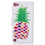 Για κάλυψη περίπτωση κάλυψη ολόκληρο σώμα με στυλό φρούτα σκληρό pu δέρμα για apple ipod touch 5 άγγιγμα 6