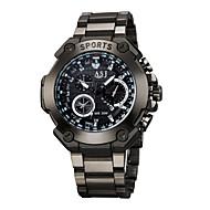 ASJ 남성용 스포츠 시계 목걸이 시계 석영 방수 큰 다이얼 합금 밴드 캐쥬얼 워드 스타일 시계 블랙
