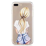 Til iphone 7plus 7 telefon taske tpu materiale pige mønster malet telefon taske 6s plus 6plus 6s 6 se 5s 5