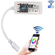 Actualizado wifi controlador inalámbrico led para rgb led strip lightswork con android / teléfono móvil ios16 millones de colores 20 modos