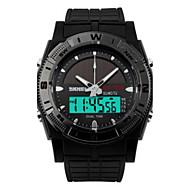 Αντρικά Αθλητικό Ρολόι LED Ανθεκτικό στο Νερό Ψηφιακό PU Μπάντα Μαύρο