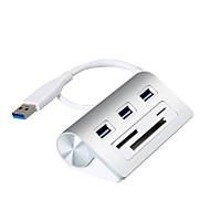 3 منافذ أوسب هاب USB 3.0 مع قارئ بطاقة (ق) مسك البيانات مدخلاتحماية حماية فوق المدى مركز البيانات