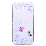 Kotelo samsung galaxy j7 2017 j5 2017 kotelon kansi perhonen kukka kuvio tpu korkea puhtaus läpikuultava pehmeä puhelimen kotelo j3 2017