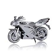 Puzzle Metalowe puzzle Cegiełki DIY Zabawki Motocykl Stop