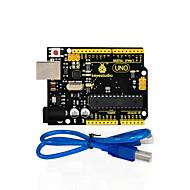1db keystudio egy r3 kártya (eredeti chip) 1db usb kábel-kompatibilis 100% kompatibilis a arduino uno r3
