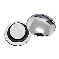 ziqiao 1 pç carro espelho retrovisor espelho redondo pequeno grande ângulo ajustável superfície convexa visual, com base rotativa