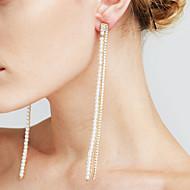 Dame Dråbeøreringe Imiteret Perle Imiteret Diamant Sexet Mode Personaliseret Euro-Amerikansk Movie smykker kostume smykker Plastik Line