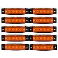 Ziqiao 10pcs 12v 6led yan işaretleyici göstergeler araç kamyon römork kamyon otobüs 6 led kehribar / beyaz / kırmızı lambalar için