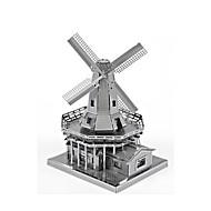 Jigsaw Puzzle Fém építőjátékok Építőkockák DIY játékok Szélmalom Népszerű épület Ötvözet