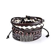 Heren Dames Lederen armbanden Sieraden Bohemia Style Punk-stijl Hip-hop Met de hand gemaakt Gothic Luxe Sieraden Klassiek LederCirkelvorm