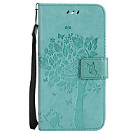 voor case cover kaarthouder portemonnee met tribune flip patroon volledige body case kat boom hard pu leer voor lg lg k10 (2017) lg k10 lg