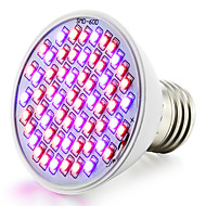 4W E26/E27 Lampy szklarniowe LED 60 SMD 3528 360-430 lm Czerwony Niebieski Wodoodporny/a V 1 sztuka