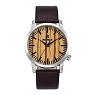 男性用 女性用 ファッションウォッチ 腕時計 ウッド 日本産 クォーツ 木製 本革 バンド チャーム カジュアルスーツ ブラウン