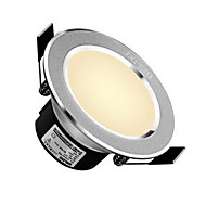 delixi® 1pc 5w led downlight világítás könnyű fehér / fehér ac220v méretű lyuk 90mm 300lm 3000 / 6000k sugárszög 120