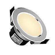 delixi ® 1pc 5w 주도 downling celing 조명 따뜻한 흰색 / 흰색 ac220v 크기 구멍 90mm 300lm 3000 / 6000k 빔 각도 120