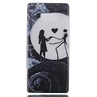 voor case cover gloeien in de donkere achterkant hoesje sexy dame soft tpu voor Samsung Galaxy Note 8