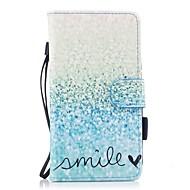 voor case cover kaarthouder portemonnee met standaard flip magnetisch patroon full body case landschap hard pu leer voor Samsung Galaxy J5