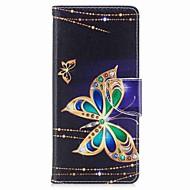 kotelon kannen kortin haltija lompakko, jossa seisontatuet magneettikuva koko kehon tapauksessa perhonen kova pu nahka Samsung Galaxy Note