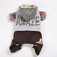 Hund Mäntel Pullover Overall Hundekleidung Lässig/Alltäglich warm halten Sport Farbblock Leopard