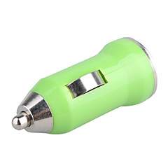 Coche 700ma cigarrillo alimentado usb adaptador / cargador (CC 12v / 24v)-verde para el iphone 6 iphone 6 más