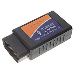 OBDII bluetooth bil diagnostisk kabel - sort + blå + orange (12V DC)
