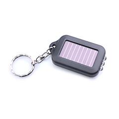 3-ledet hvitt lys solcelledrevet selv lade lommelykt nøkkelring-svart