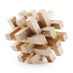 carré en bois pull-dehors iq puzzle (18 pièces)