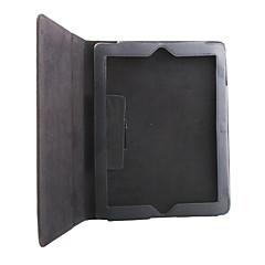 Litchi Grain Slim PU Leather Case & Stand for iPad 2/3/4 - Black