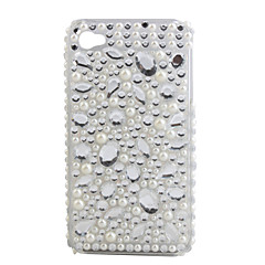Protective PVC Case with Jewel Cover for IPhone4