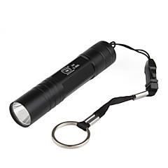 최고 밝은 1 형태 LED 플래쉬 등 (400lm의 1x14500, 블랙)